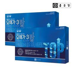 종근당 눈건강 오메가3 탑 180캡슐 2박스(6개월분)