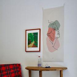 컬러드로잉 세로형 패브릭 포스터 . 바란스커튼