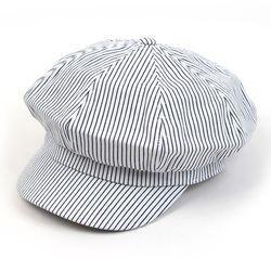 Stripe White Denim Newsboy Cap 뉴스보이캡