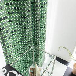 팝빈티지 LIKE A PANSY (Green) 행잉프린트 커튼