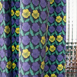 팝빈티지 LIKE A PANSY (Yellow-Navy) 행잉프린트 커튼