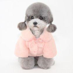 반려견 강아지 옷 밍크 털 보들보들 코트 퍼자켓