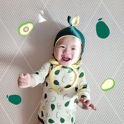 [유호랑] 과일세트과일보넷+과일슈트실내복 2종set