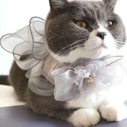 반려견 강아지 고양이 핸드메이드 리본 방울 하네스