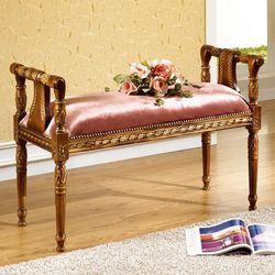 링클 엔틱 2인용 벤치 의자 보조의자 쇼파