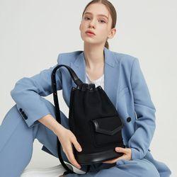 Poket sling back  Neutral black
