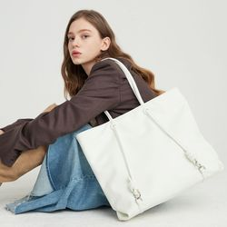 rope shopper bag  white