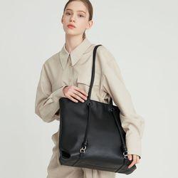 rope shopper bag  Neutral black