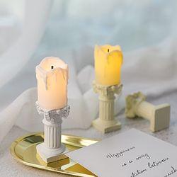 미니 캔들 세트 LED 전자 초 꺼지지않는 가짜 촛불 양초 건전지