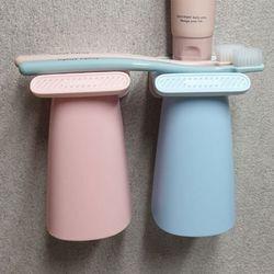마그네틱 자석양치컵 욕실정리 매달려자석양치컵