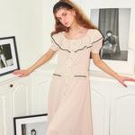 Ruffle Collar Dress_ Ivory