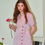 Bloom Wrap Dress_ Ivory
