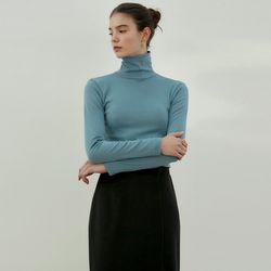 BASIC TURTLENECK SLIM TOP[BLUE GRAY]