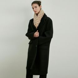 WOOL OVER SINGLE LONG COAT[BLACK]