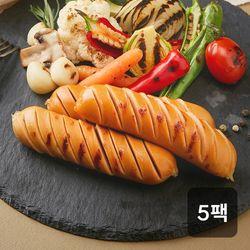 신선하닭 닭가슴살 소세지 매콤숯불훈제 120g 5팩