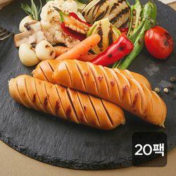 신선하닭 닭가슴살 소세지 매콤숯불훈제 120g 20팩
