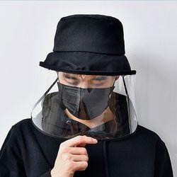 남자 여자 안면보호 안면차단 방역 모자 투명