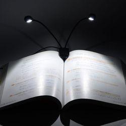 휴대용 야간 LED등 투헤드 스탠드 독서등 북라이트