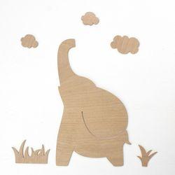 우드아트꾸미기 - 코끼리 (W596) 컬러링 미술놀이