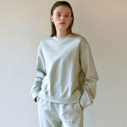 NICOLE EMB SWEATSHIRT[LIGHT GRAY]