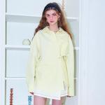 Solid Wrap Shirt_ Lemon