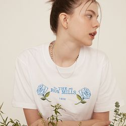 [예약판매 4/19 순차배송] WHITE ROSE CROP T-SHIRT WHITE