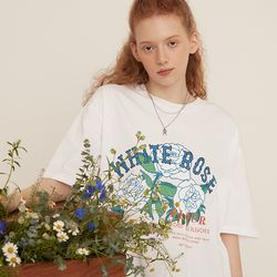 [예약판매 4/19 순차배송] WHITE ROSE OVER FIT T-SHIRT WHITE