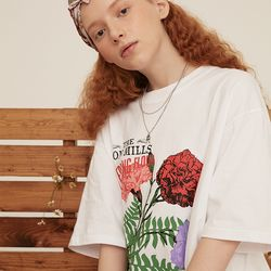 [예약판매 4/19 순차배송] CARNATION OVER FIT T-SHIRT WHITE
