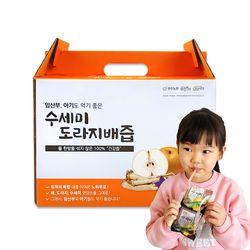 무첨가 아기 배도라지즙 수세미 도라지 배즙 파우치 120ml 50포