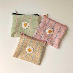 봄밤달 키치키치 계란후라이 카드파우치(미니파우치)