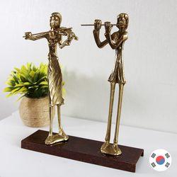 바이올린 플루트 2중주 동공예 장식품 STD-501
