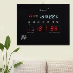 무소음 LED 디지털벽시계 CST-826 [년월일 요일]