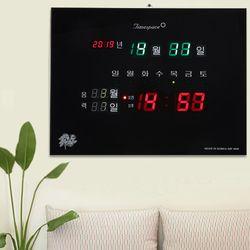 무소음 LED 디지털벽시계 CST-827 [년월일 요일 음력]