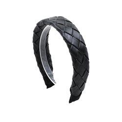 leather weaving hairband (black)