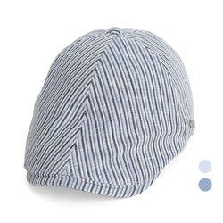 [디꾸보]린넨 잔줄 빗살 헌팅캡 똑딱이 모자 JAN355