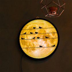 no154-LED액자25R밤하늘보름달