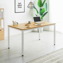 철제 1인용 일자형 책상 테이블 1200 두께 22T (일자다리)