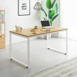 철제 1인용 일자형 책상 테이블 1200 두께 22T (사각다리)