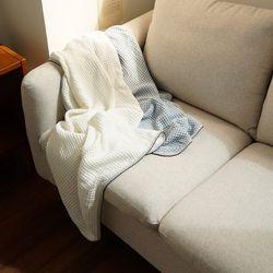 모달 와플 아기 블랭킷 신생아 담요 낮잠이불 90x135