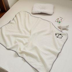모달 와플 아기 블랭킷 신생아 담요 낮잠이불 70x90