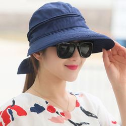 해오리 여성 햇빛가리개 탈부착 자외선차단 썬캡 모자