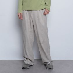 M55 pigment wide slacks beige
