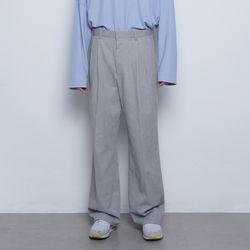 M55 pigment wide slacks grey