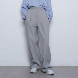 W55 pigment wide slacks grey