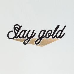 Stay gold 예쁜 감성 레터링 인테리어 스티커  large