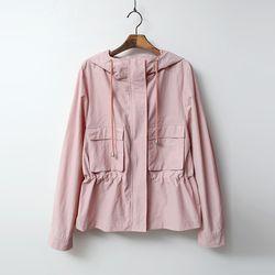 Hooded Trench Short Jacket