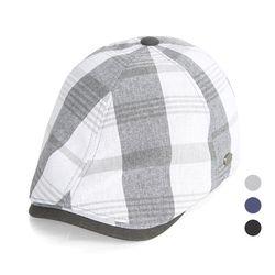 [디꾸보]린넨 헌팅캡 배색 똑딱이 조절 모자 JAN359