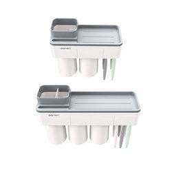 아이디어 욕실용품 칫솔 꽂이 걸이 양치컵 세트
