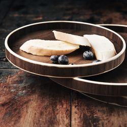 [아이니샵] 원목 과일 브레드 트레이 빵접시(대소 1Set)