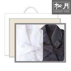 송월 40수 호텔 샤워가운 2매 선물세트(박스 쇼핑백)